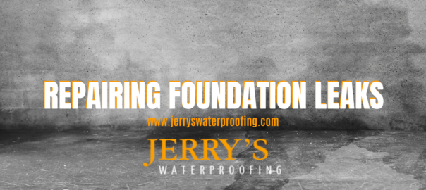 repairing foundation leaks