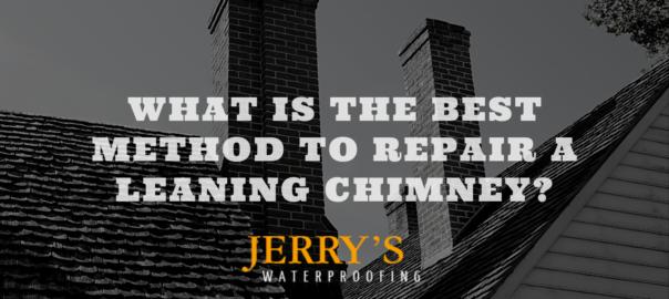 leaning chimney repair ne