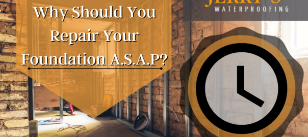 Repair Your Foundation ASAP