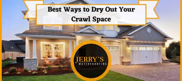 Best ways to dry out your crawl space banner blog