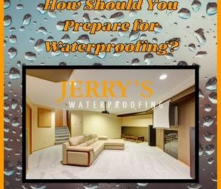 How should you prepare for waterproofing?