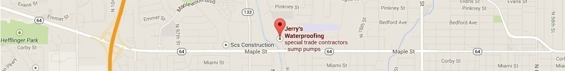 Jerry's Waterproofing service area